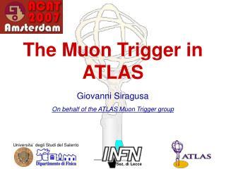 The Muon Trigger in ATLAS