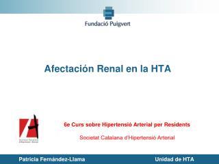 Afectación Renal en la HTA