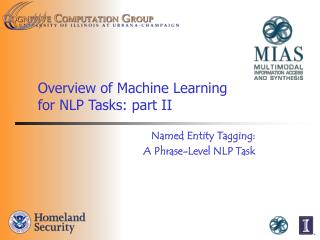 Overview of Machine Learning  for NLP Tasks: part II