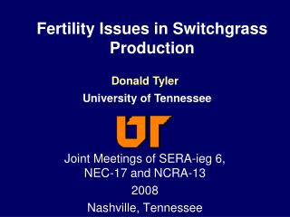 Fertility Issues in Switchgrass Production