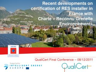 QualiCert Final Conference – 08/12/2011