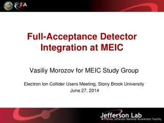 Full-Acceptance Detector Integration at MEIC