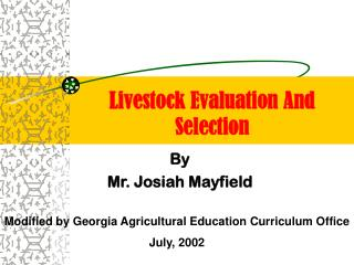 Livestock Evaluation And Selection