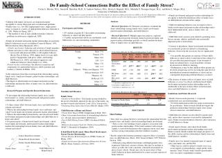 Do Family-School Connections Buffer the Effect of Family Stress?