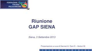 Presentazione a cura di Gennari A.-Tarsi D. –Venturi M.