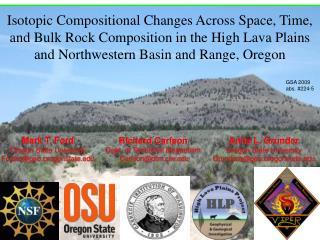 Mark T. Ford Oregon State University Fordm@geo.oregonstate