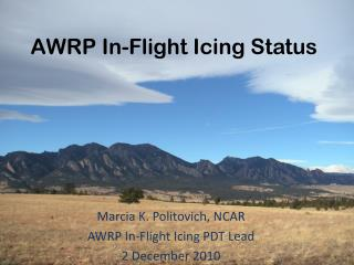 AWRP In-Flight Icing Status