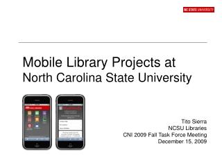 NCSU Libraries Fellows Program 2007 - 2009