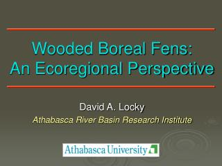 Wooded Boreal Fens: An Ecoregional Perspective