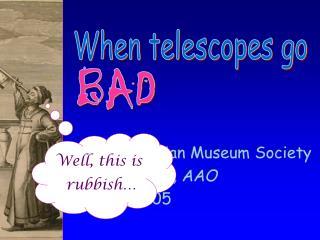 The Australian Museum Society Fred Watson, AAO 17 May 2005