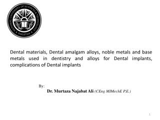 Metallic Biomaterials: Hard Tissue Repair
