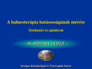 A  balneoter ápia hatásosságának mérése