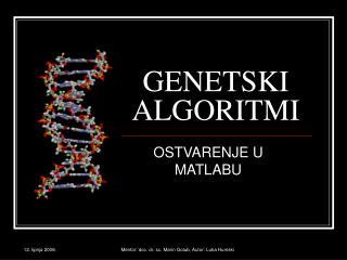 GENETSKI ALGORITMI