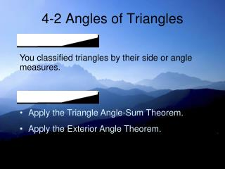 4-2 Angles of Triangles