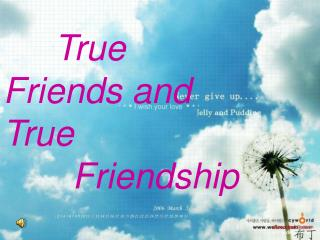 True      Friends and               True         Friendship