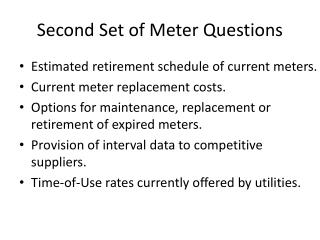 Second Set of Meter Questions