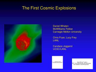 The First Cosmic Explosions