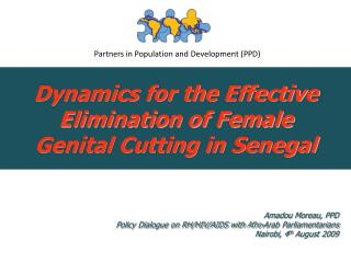 Dynamics for the Effective Elimination of Female Genital Cutting in Senegal