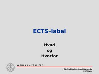 ECTS-label