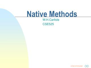 Native Methods