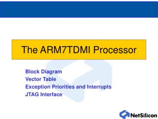 The ARM7TDMI Processor
