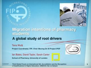 Migration intentions of pharmacy students