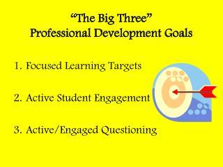 """The Big Three"" Professional Development Goals"