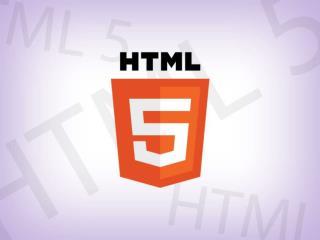 Apresenta%C3%A7%C3%A3o HTML 5