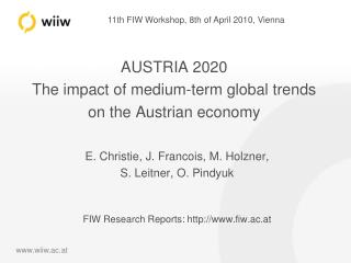 AUSTRIA 2020 The impact of medium-term global trends on the Austrian economy