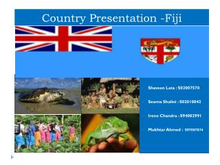 Country Presentation -Fiji