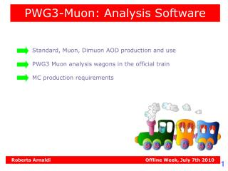 PWG3-Muon: Analysis Software
