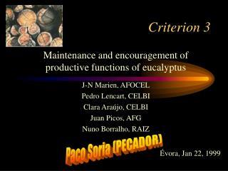 Criterion 3
