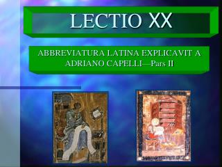 LECTIO  XX