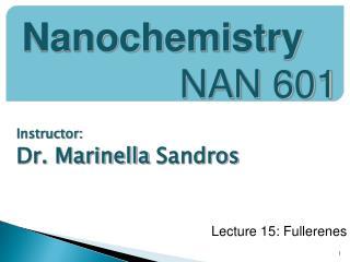 Instructor:  Dr.  Marinella Sandros