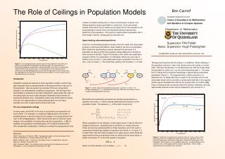 The R o le of Ceilings in Population Models