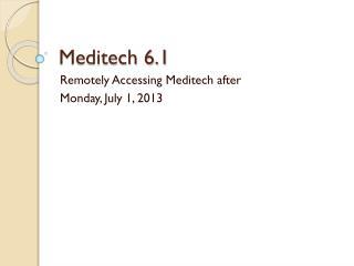 Meditech 6.1
