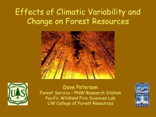 Effects of Climatic Variability and Change on Forest Resources