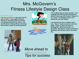 Mrs. McGovern's  Fitness Lifestyle Design Class