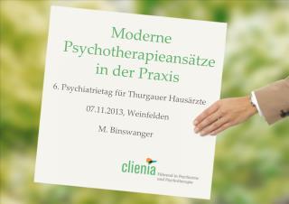 Moderne Psychotherapieansätze in der Praxis