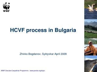 HCVF process in Bulgaria Zhivko Bogdanov, Syktyvkar April 2009