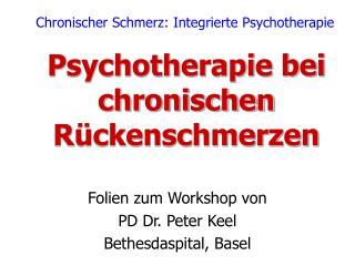 Psychotherapie bei chronischen Rückenschmerzen