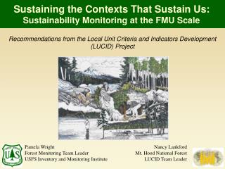 Sustaining the Contexts That Sustain Us:  Sustainability Monitoring at the FMU Scale
