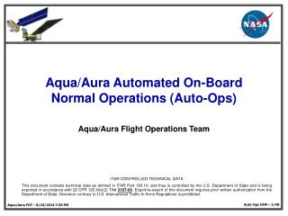 Aqua/Aura Automated On-Board Normal Operations (Auto-Ops)