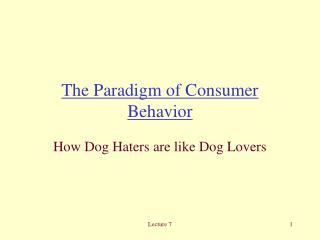 The Paradigm of Consumer Behavior