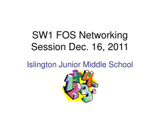 SW1 FOS Networking Session Dec. 16, 2011