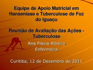 Ana Flavia Ribeiro Enfermeira Curitiba, 12 de Dezembro de 2011