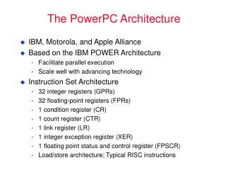 The PowerPC Architecture