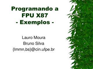 Programando a FPU X87 - Exemplos -