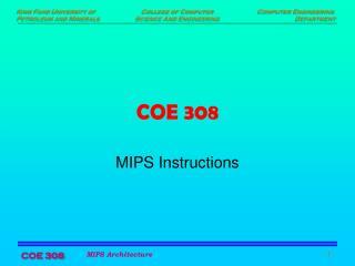 COE 308