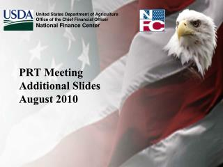 PRT Meeting Additional Slides August 2010